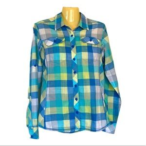 Columbia Long Sleeve Fitted Button Up Shirt Medium